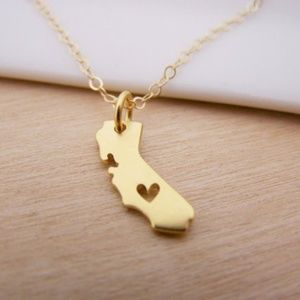 California State Necklace, NEW & Dainty